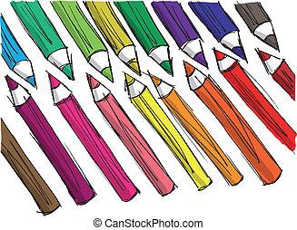 略述, ......的, 鉛筆, pattern., 矢量, 插圖