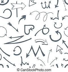 略述, 箭, 插圖, 手, 矢量, 背景, 畫, 白色