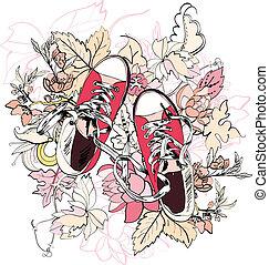 略述, 花, gumshoes