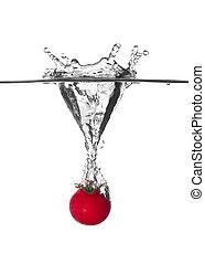 番茄, 水, 很少, 飞溅