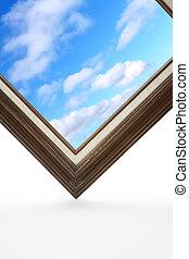 畫框架, 天空