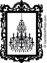 畫框架, 枝形吊燈