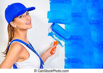 畫, 牆壁