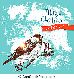 畫, 聖誕節, 背景, 插圖, 手