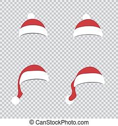 異なった帽子, santa