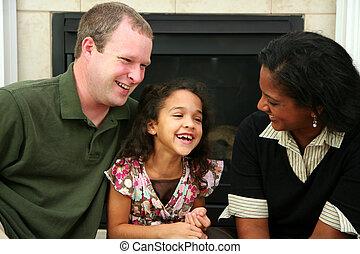異人種間の家族