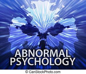 異常, inkblot, 心理学, 背景