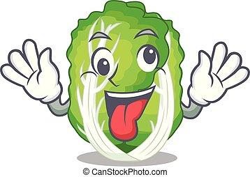 疯狂, 大白菜, 蔬菜, 隔离, 在上, 卡通漫画