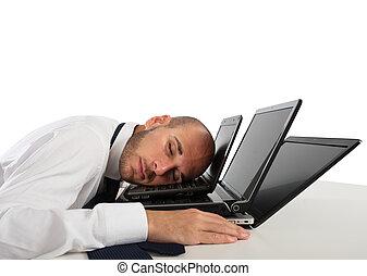 疲労, そして, ストレス, 中に, オフィス