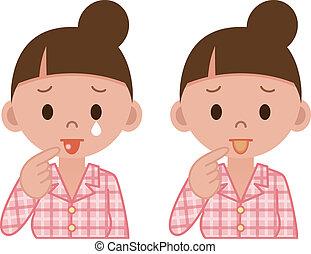 疾病, ......的, the, 舌頭