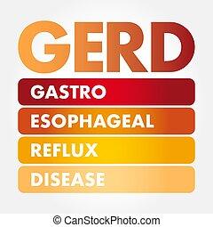 疾病, -, gerd, 倒流, gastroesophageal