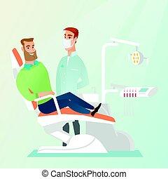病人, 以及, 醫生, 在, the, 牙醫, 辦公室。