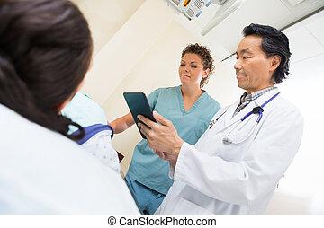 病人, 房間, 身體檢查, 女性, 隊