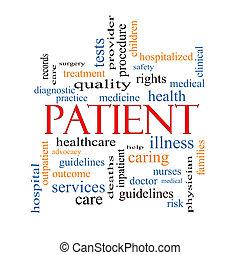 病人, 概念, 詞, 雲