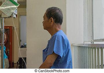 病人, 等待, a, 醫生, 在, 醫院