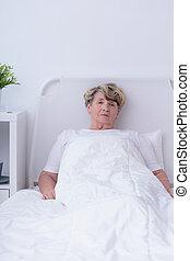 病気, 女, シニア, terminally