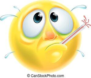 病気, 病気, emoticon, emoji