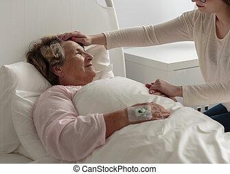 病気, 病院, 祖母