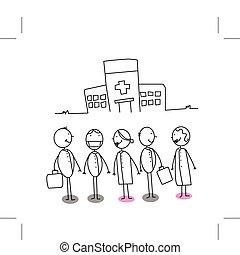 病院, チーム