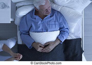 病院, 患者, ベッド