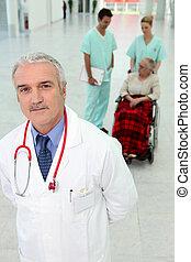 病院, 患者, 車椅子