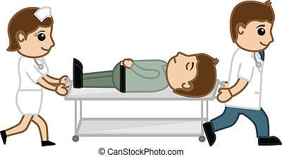 病院, 漫画, 概念