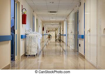 病院, 空, 廊下