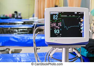病院, 肝要である, モニター, サイン