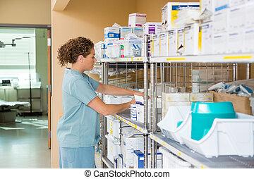 病院, 貯蔵 部屋, 仕事, 看護婦