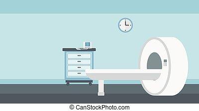 病院, machine., 部屋, 背景, mri