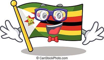 痛みなさい, スタイル, 極度, geek, 面白い, 漫画, ジンバブエの旗, マスコット