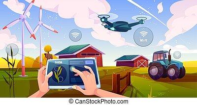 痛みなさい, 技術, 農場, 農業, 未来派