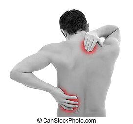 痛苦, 在背部中