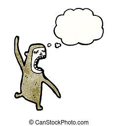 瘋狂, 卡通, 猴子