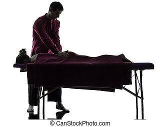 療法, 背中のマッサージ