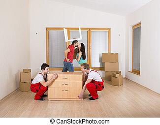 発動機, 新しい家