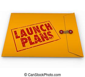 発射, 計画, ビジネス, 新しいスタート, 黄色の包絡線, 秘密, 会社