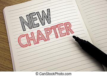 発表, 新しい, テキスト, 提示, 生活, ノート, 本, 未来, 背景, 概念, スペース, マーカー, ビジネス, chapter., 始める, ペン, 書かれた, コピー, 手書き