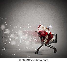 発表, claus, 速い, santa