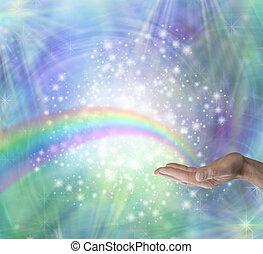 発送, エネルギー, 治癒, 虹