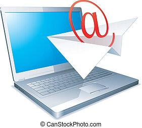 発送, concept., 電子メール