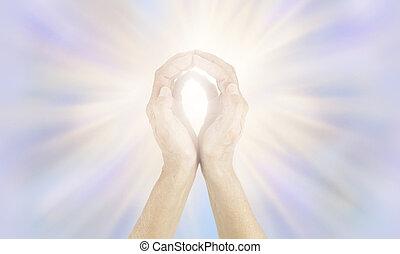発送, vibrational, エネルギー, 高く, 治療師, から