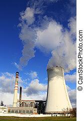 発電所, zaluzi, litvinov, -, チェコ共和国