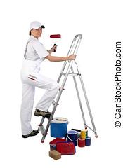 登山階段, 画家