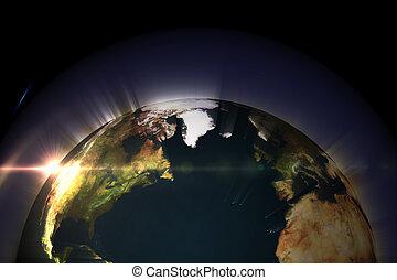 發光, 地球