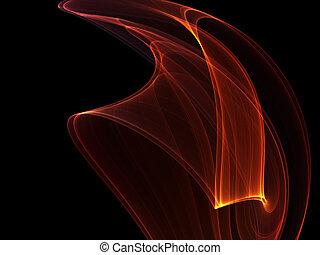 發光, 線, 火熱