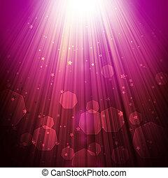 發光, 背景, 星, 黑暗, 耀眼, 光線