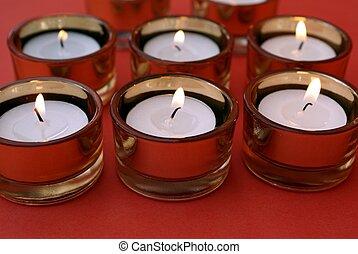 發光, 蜡燭