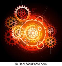 發光, techno, 齒輪
