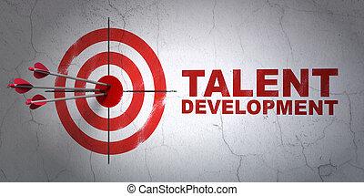 發展, 才能, 目標, 牆, 背景, 教育, concept: